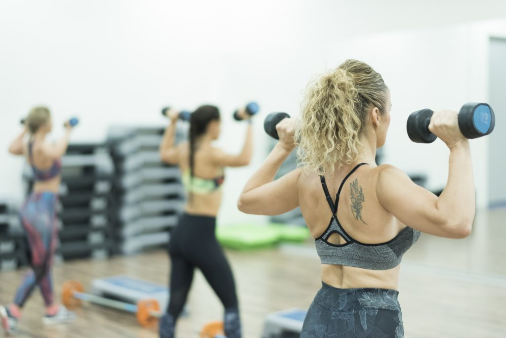 Body Pump training at Simply Gym