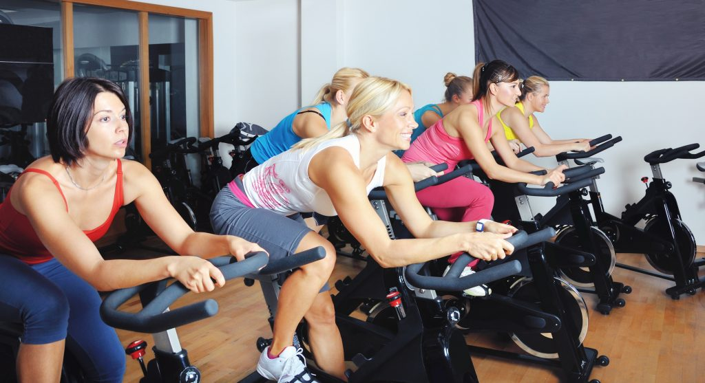 Women in a Spinning Class - Simply Spin Cheltenham
