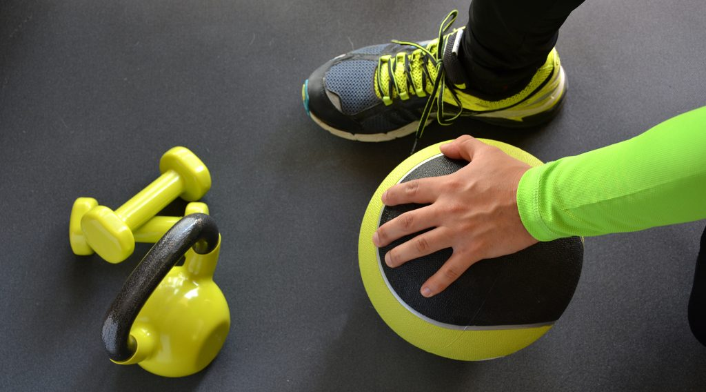 returning to training after time off - medicine ball